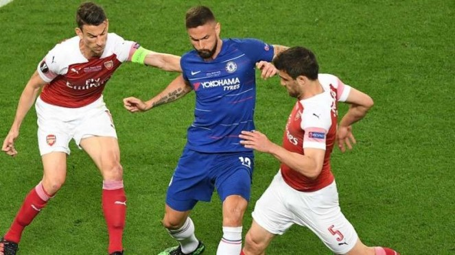 Laga final Liga Europa 2018/2019 antara Chelsea kontra Arsenal