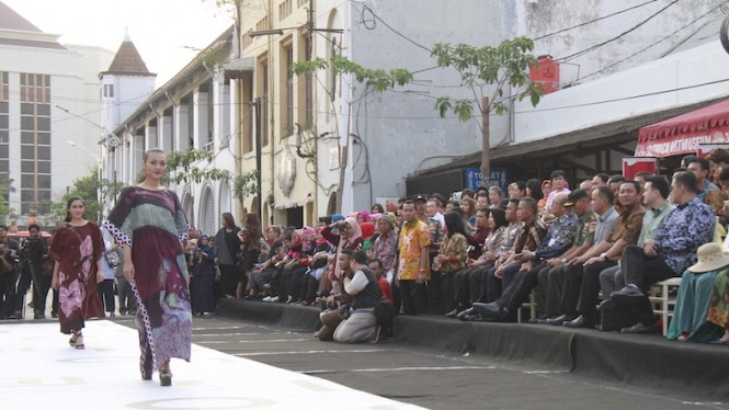 Salah satu acara fashion show di kota Semarang.