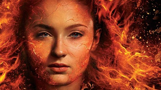 Sophie Turner dalam X-Men: Dark Phoenix.