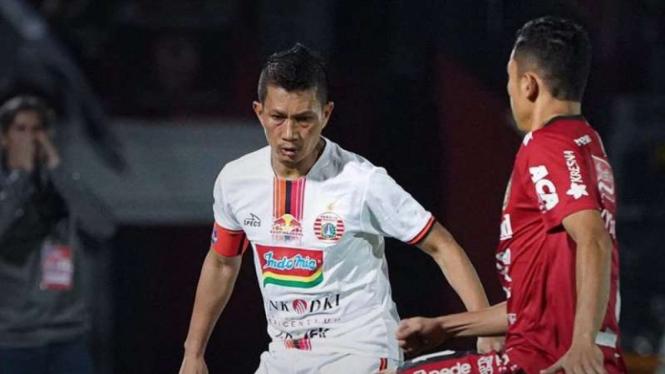 Pertandingan Liga 1 2019 antara Bali United melawan Persija Jakarta