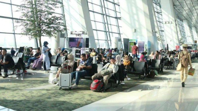 Bandara internasional Soekarno-Hatta.