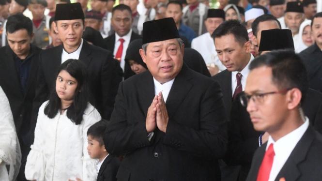 Pelepasan Jenazah Ibu Ani Yudhoyono