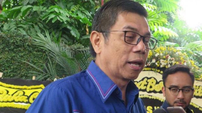 Sekretaris Jenderal Partai Demokrat, Hinca Pandjaitan di Puri Cikeas.