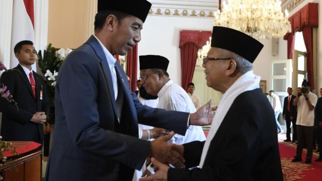 Presiden Jokowi bersama Ma'ruf Amin.