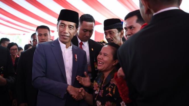 Presiden Jokowi Halalbihalal di Istana Negara