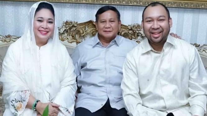 Prabowo Subianto bersama Titiek Soeharto, dan anak mereka Didit Prabowo