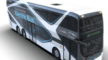 Bus tingkat elektrik Hyundai