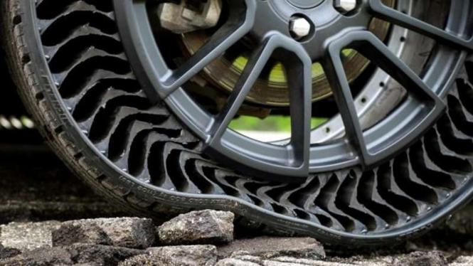 Ban mobil tanpa angin rancangan Michelin