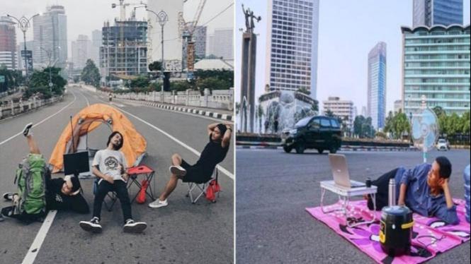 Jakarta sepi ditinggal mudik