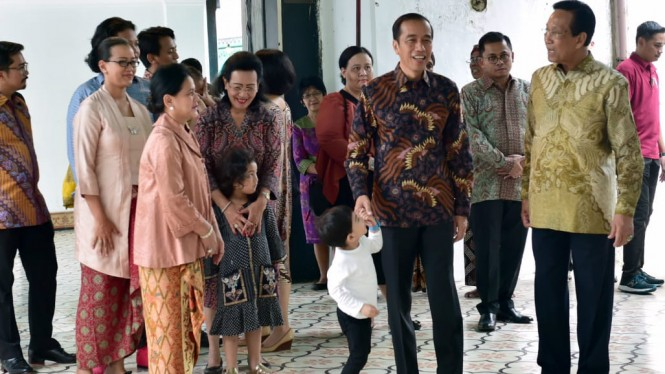 Presiden Jokowi ajak cucunya Jan Ethes silaturahmi ke Sultan HB X