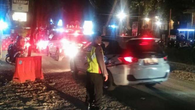 Objek Wisata Cipanas Garut Padat, Polisi Bikin Prioritas Jalur
