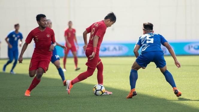 Timnas Indonesia U-23 vs Timnas Filipina U-23 di Merlion Cup 2019