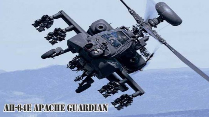 AH-64E Apache Guardian.