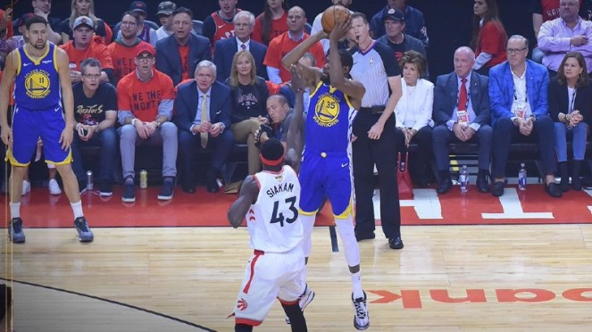 Andalan Golden State Warriors, Kevin Durant di NBA Finals lawan Raptors