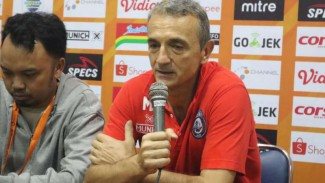 Pelatih Arema FC, Milomir Seslija.