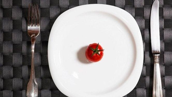 Ilustrasi starvation diet.