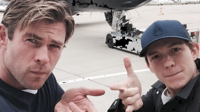 Chris Hemsworth dan Tom Holland