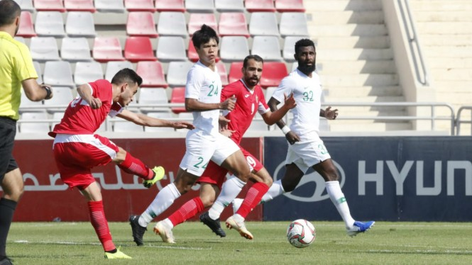 Laga persahabatan Yordania vs Indonesia