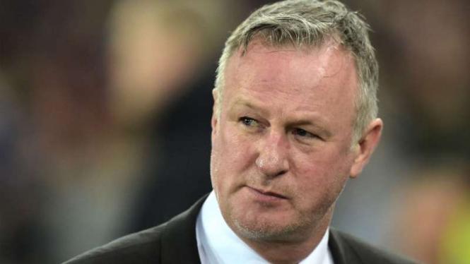 Pelatih Irlandia Utara, Michael O'Neill.