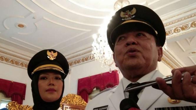Gubenur Lampung, Arinal Djunaidi, dan Wakil Gubernur Chusnunia Chalim.