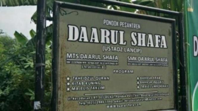 Pondok Pesantren Daarul Shafa, tempat Ustaz Lancip mengajar.