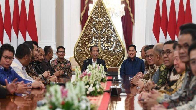 Presiden Jokowi bertemu dengan pengurus Kadin dan Hipmi