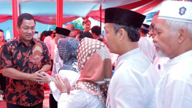 Wali Kota Semarang Hendrar Prihadi Halal Bi Halal di PDAM Tirta Moedal.