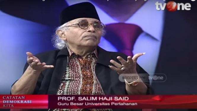 Guru Besar Universitas Pertahanan, Salim Said