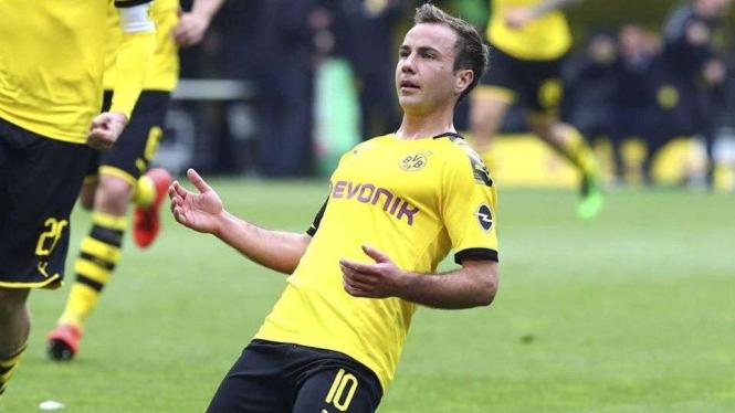 Gelandang Borussia Dortmund, Mario Goetze.