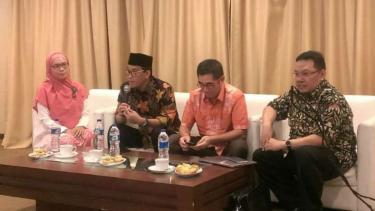 Pakar Hukum Tata Negara, Refly Harun dalam sebuah diskusi di kawasan Jakarta Pus