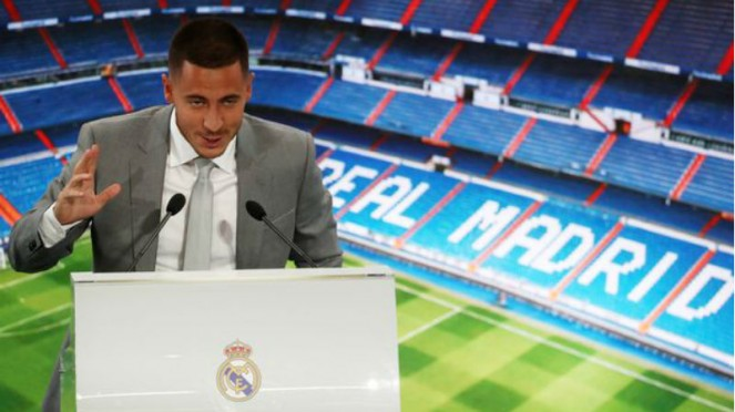 Sesi perkenalan Eden Hazard, pemain baru Real Madrid