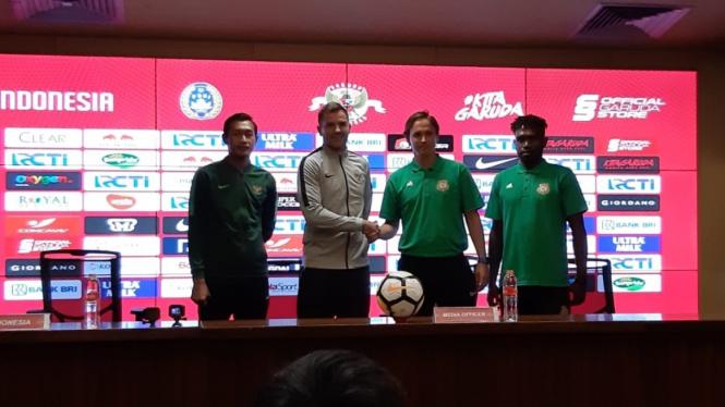Konferensi pers Timnas Indonesia vs Vanuatu