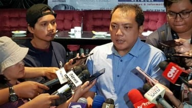 Taufik Basari, anggota tim hukum pasangan calon presiden dan wakil presiden Joko Widodo-Ma'ruf Amin, saat menjadi narasumber dalam diskusi mingguan di Jakarta, Sabtu 15 Juni 2019.