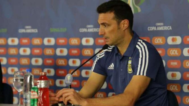 Pelatih Argentina, Lionel Scaloni.