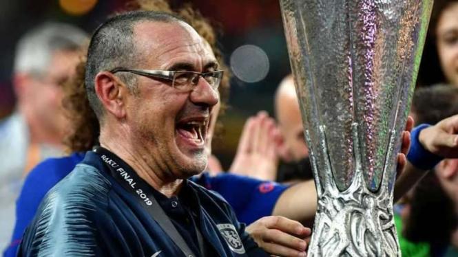 Maurizio Sarri saat masih menangani Chelsea