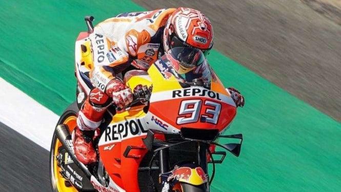 Pembalap Tim Repsol Honda, Marc Marquez