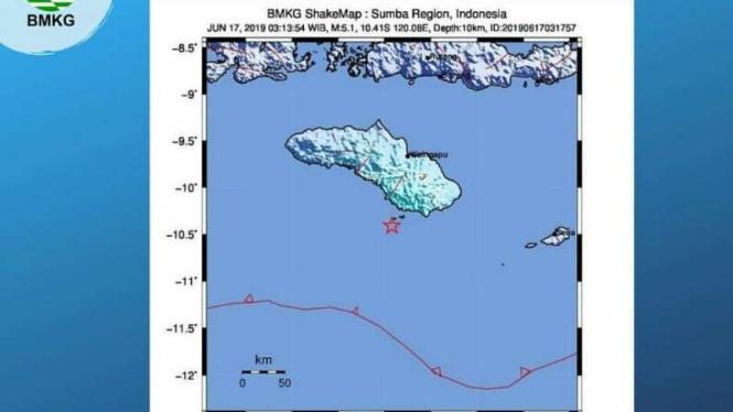 Kabupaten Sumba Timur Diguncang Gempa Bumi 5,1 SR