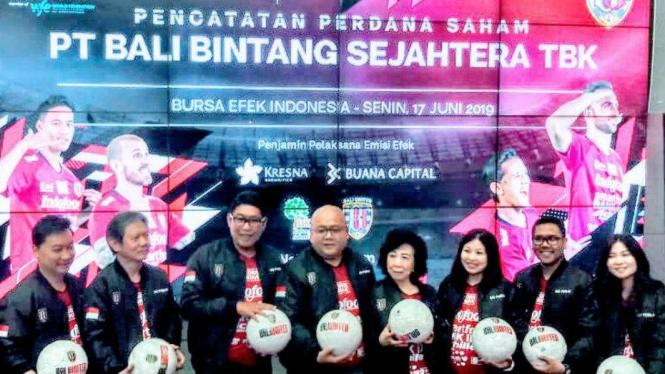 Bali United melantai di Bursa Efek Indonesia.