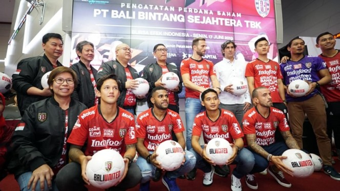 Bali United resmi melepas saham ke publik