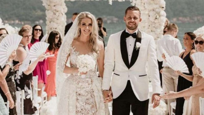 Resepsi pernikahan Gylfi Sigurdsson dengan Alexandra Ivarsdottir