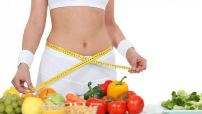 Ilustrasi makanan penurun berat badan.