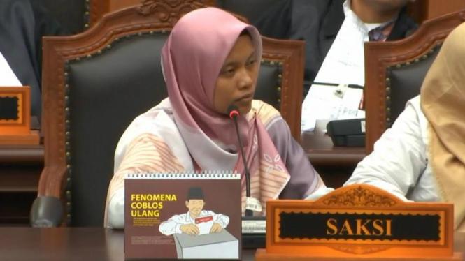 Nur Latifah, salah satu saksi Prabowo-Sandi di MK.