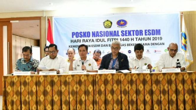 Laporan Posko Nasional Sektor ESDM.