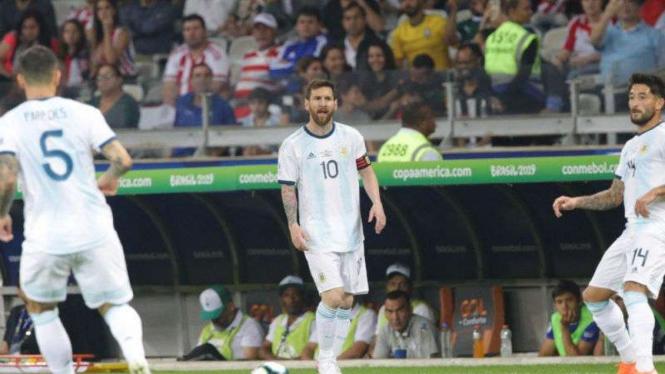 Kapten Argentina, Lionel Messi.