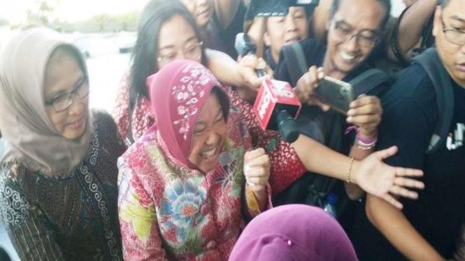 Wali Kota Surabaya Tri Rismaharini diperiksa Kejaksaan Tinggi Jatim