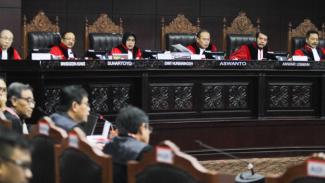 Majelis Hakim Sidang Gugatan Pilpres di Mahkamah Konstitusi, 20 Juni 2019.