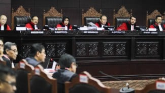 Majelis Hakim Sidang Gugatan Pilpres di Mahkamah Konstitusi.