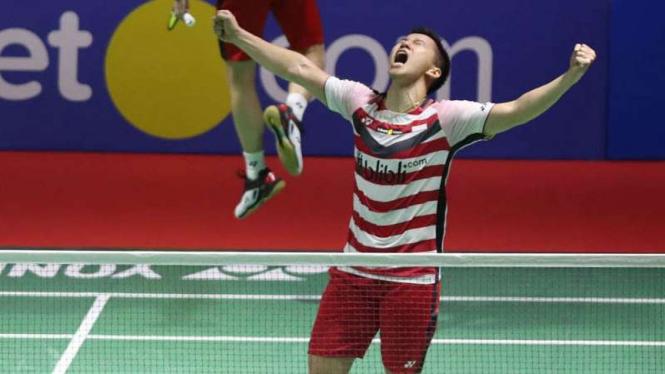 Kevin Sanjaya Sukamuljo/Marcus Fernaldi Gideon juara Indonesia Open 2019.