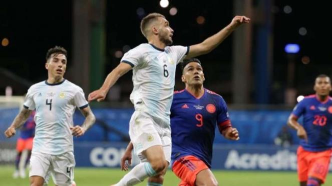 Pertandingan Argentina melawan Kolombia di Copa America 2019