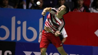 Marcus Fernaldi Gideon di final Indonesia Open 2018.